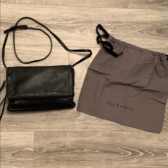 All Saints Handbags - Allsaints Black Crossbody Purse.